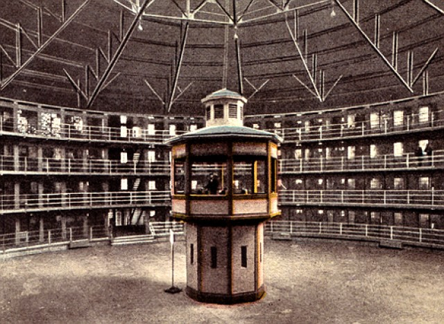 Jeremy Bentham's architectural panopticon