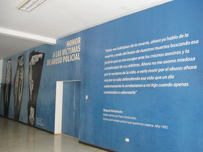 Mural inside of the police university dedicated to victims of police abuse